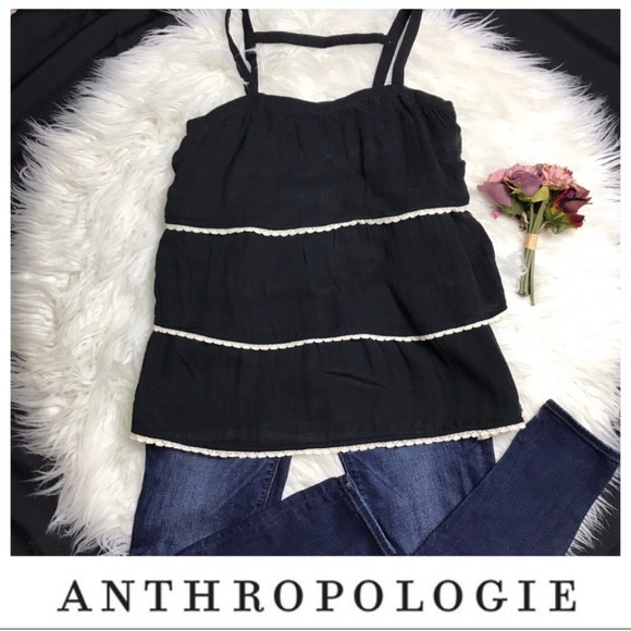 Anthropologie Tops - Anthropologie tiered tank top